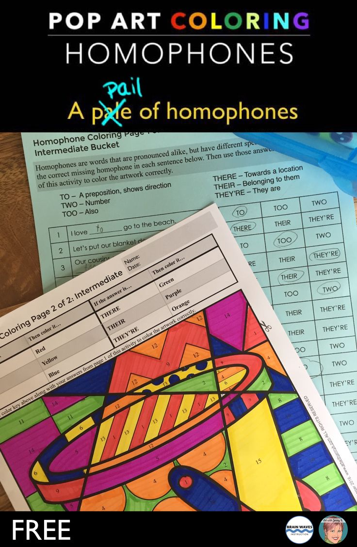 Worksheet How To Spell Vocabulary 1000 images about tch spellingvocab 4th grade on pinterest these free homophone coloring sheets are a great end of the year activity as students get ready for summer see how well your students
