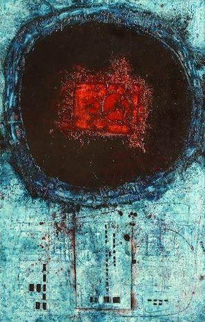 Mikuláš Medek - Disappearing signal (1964). #painting #art #Czechia