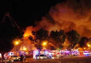 """Two Firefighters Killed in Kansas City Fire 0:30  Two firefighters were killed battling a massive two alarm apartment fire in Kansas City, Missouri, a spokesman for city's fire department said.  """"They did not die in vain,"""" Kansas City Fire Chief Paul Berardi told NBC affiliate KSHB. """"They saved two civilians, carried them out of the second floor on ladders before the wall collapsed."""" Image: Kansas City Fire"""