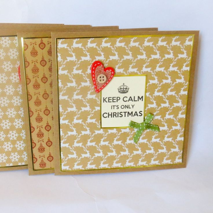 A personal favorite from my Etsy shop https://www.etsy.com/uk/listing/250378890/5-pack-of-keep-calm-its-only-christmas