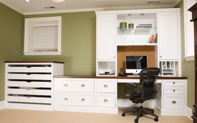 beautiful white home office furniture with custom white