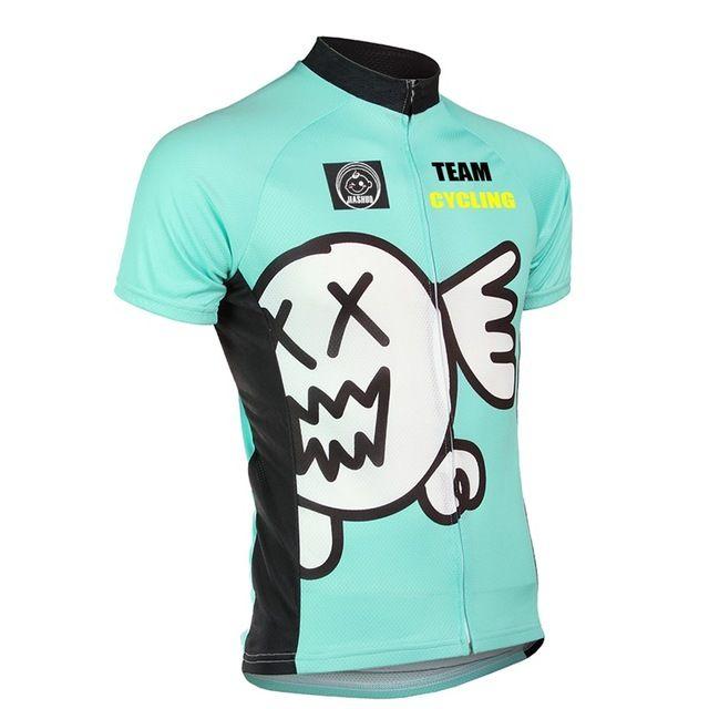 NUEVO hombre Del Verano camisetas de ciclismo 100% equipo de CICLISMO ropa de ciclismo desgaste de ciclo azul de Poliéster de Secado rápido
