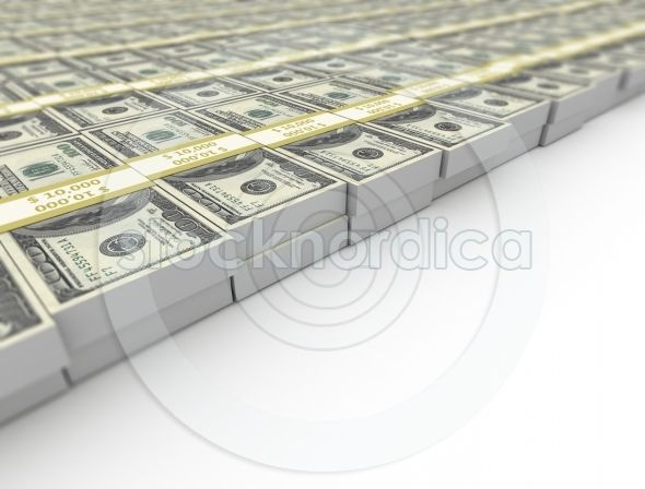 US dollars stacked close up image . http://www.stocknordica.com/image/us-dollars-stacked-close-up-image/