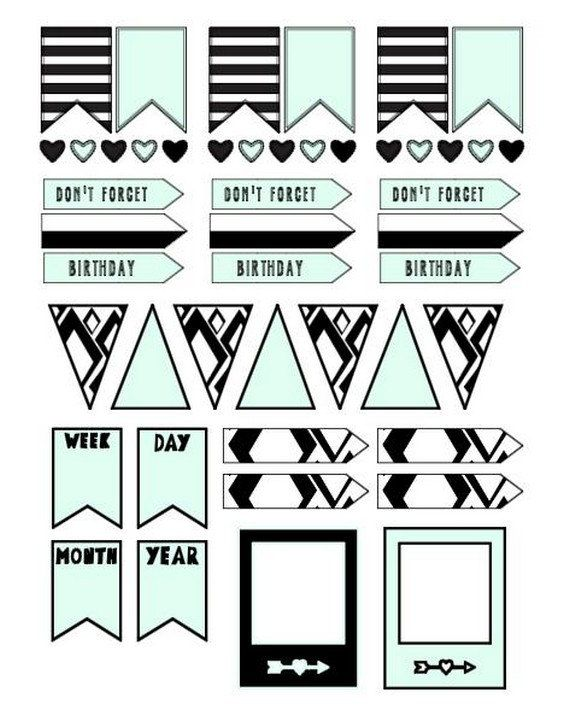 Planner stickers banners by LovedbyGaby on Etsy