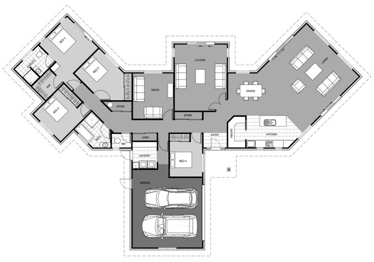 Amazing stacked townhouse floor plans 2 beautiful for Stacked townhouse floor plans
