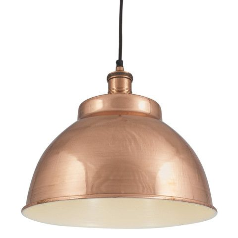 Brooklyn Vintage Metal Dome Lamp Shade - Copper - 13 inch