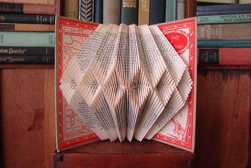 Extraodinary book art  #180 by betsy j birkey explodedbooks.com