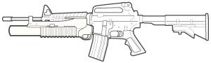 M203 Grenade Launcher.
