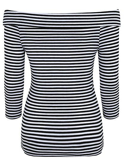 Long Sleeve Bardot Top, read reviews and buy online at George at ASDA. Shop from our latest range in Women. Contemporary and stylish, this stripe Bardot top ...