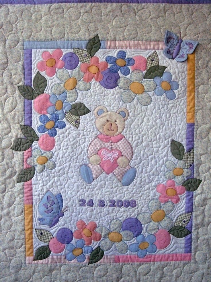 Teddy Bear Quilt From Old Baby Clothes Teddy Bear Baby
