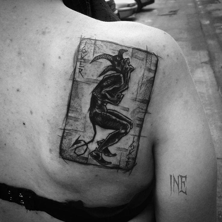 http://tattooideas247.com/joker-card/ Joker Card #Dark, #Horror, #InezJaniak, #Joker, #PlayingCard, #Scary
