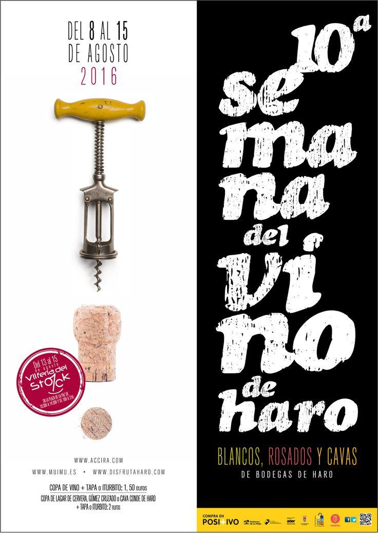 La 10ª edición de la semana del vino ya está cerca!!!! Os dejamos el diseño del cartel !