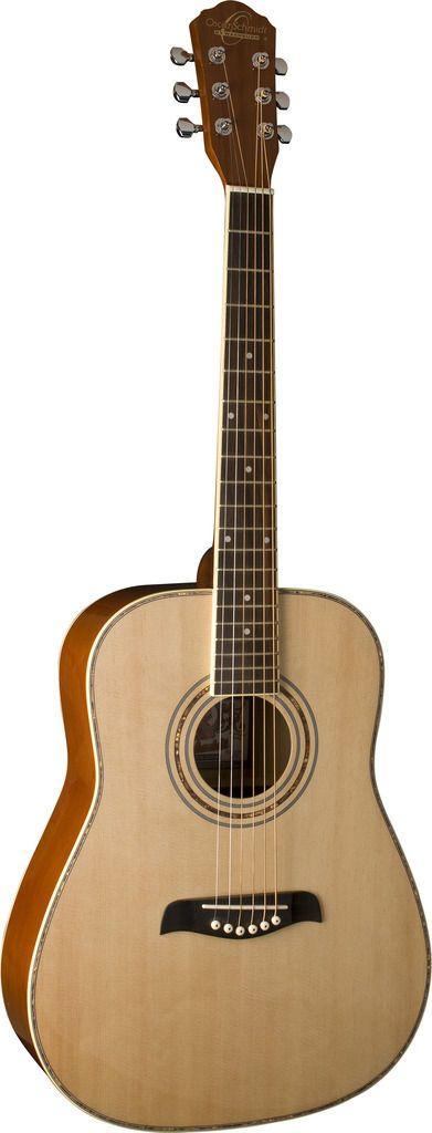 Oscar Schmidt 3/4 Size Acoustic Guitar Left Hand Spruce Top Natural OG1LH