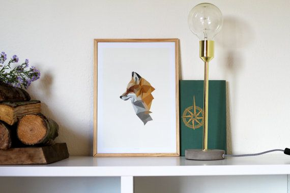 Fox poster A3 by NORDSTER on Etsy