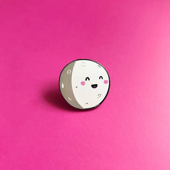 Happy Moon Lapel Pin - Nutmeg and Arlo