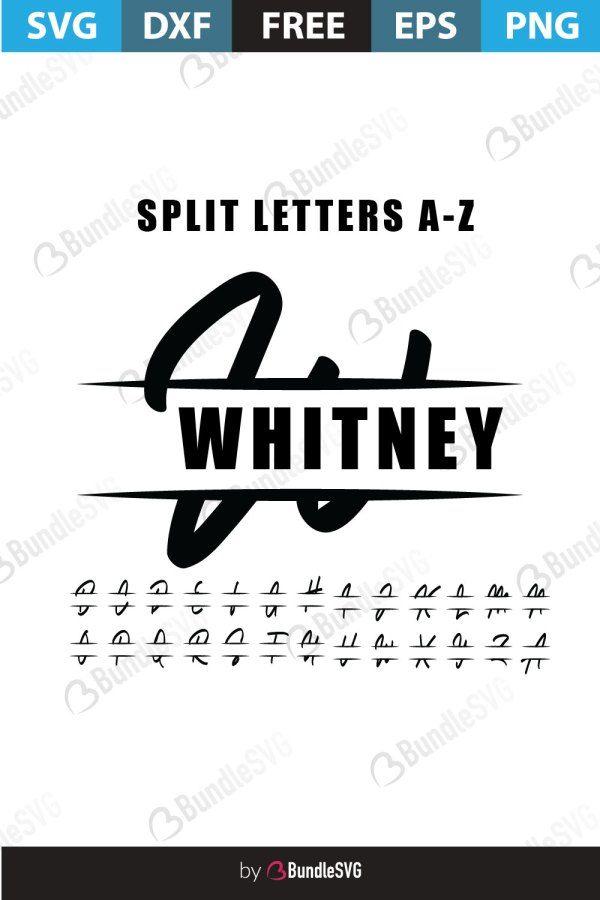 Split Monogram Letters Svg Free Download Bundlesvg In 2020 Monogram Letters Free Monogram Fonts Cricut Monogram