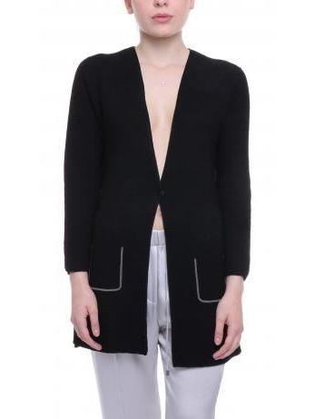 Fabiana Filippi - Pure cotton cardigan in black