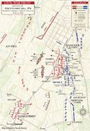 Pickett's Charge, July 3, 1863, 3-3:45 PM. July 1-3, 2013 marks the 150th Anniversary of the Battle of Gettysburg.