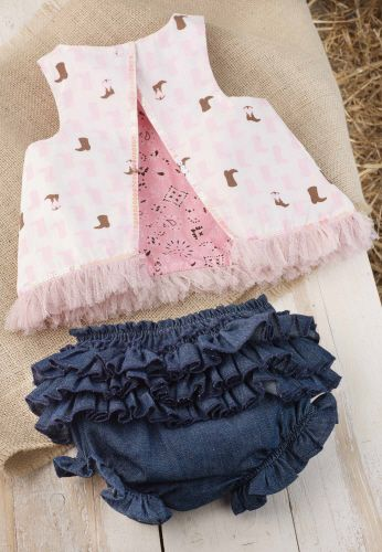 Cowgirl Pinafore And Bloomer Set by Mud Pie