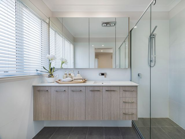 Master Ensuite Bathroom. Ausbuild Denham Display Home. See website for display locations. www.ausbuild.com.au