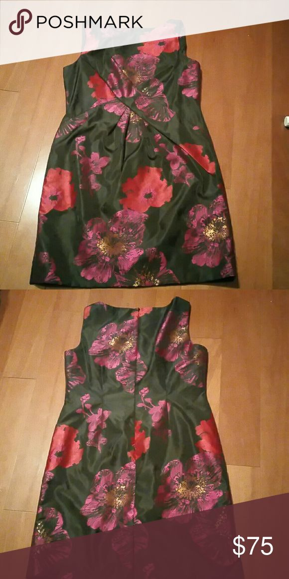Tahari Tahari, Authur S. Levine  Black/Fuchsia floral evening dress. Tahari Dresses Midi