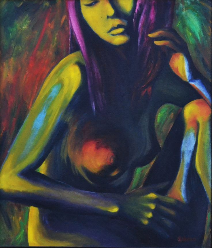 """""""Mujer Desnuda"""" Uno de mis cuadros al óleo favoritos"""
