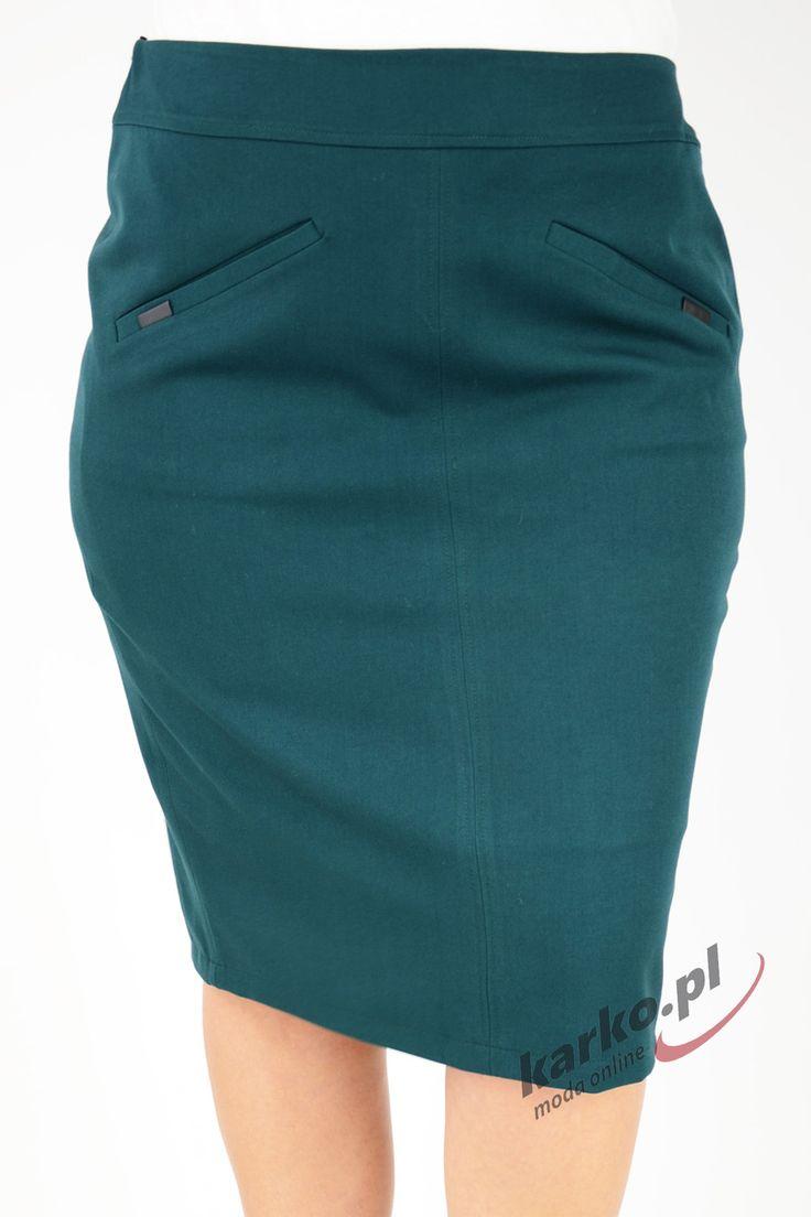 Spódnica elegancka klasyczna ołówkowa LOLA2 butelkowa zieleń | Sklep Internetowy Plus Size