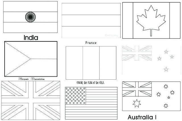 Malvorlage Flagen Coloring and Malvorlagan