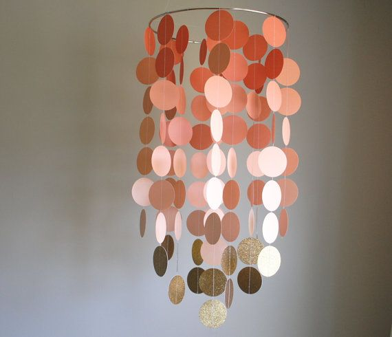 Móvil lámpara coral/melocotón/oro / / vivero móvil  elige tus