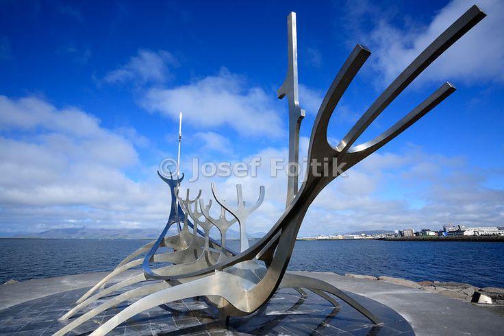 Solfar - Sun Voyager - on the quay near centrum of Reykjavik, Iceland