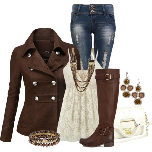"""Under 50"" by laaudra-rasco on Polyvore jacket is so cute!!"