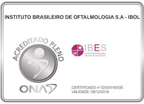 Em 2016, o IBOL recebeu da ONA o selo de Acreditação. #oftalmologia #olhos #clínica #saúde #Acreditação #ONA