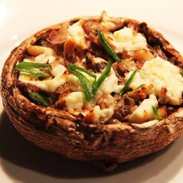 Portobello's met geitenkaas en groentenrecept