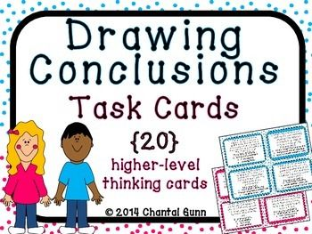 Drawing Conclusions Task Cards {20 Higher Level Thinking Cards} 2nd-4th grade
