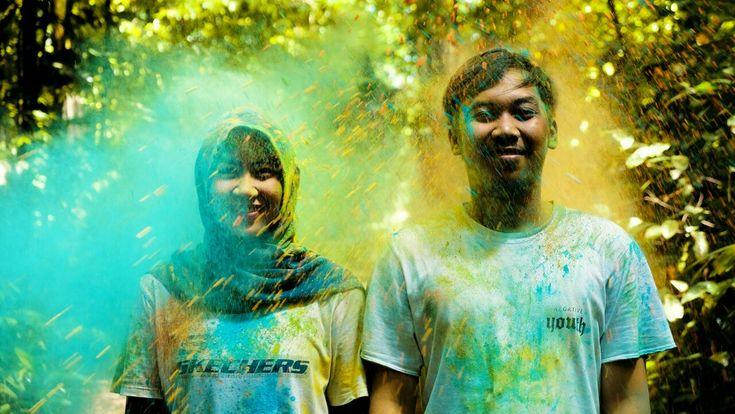 Holy powder shoot 4 #prewedding #wedding #run #holyshoot #indonesian #bogor