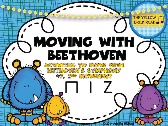 Movement activities for engaging students in Beethoven's 7th Symphony.