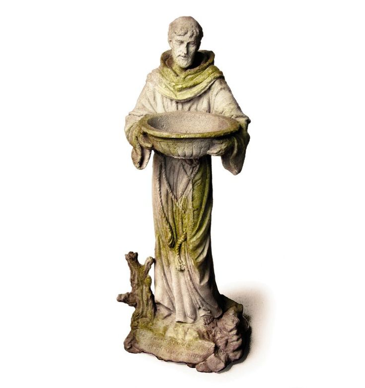 Orlandi Statuary Saint Francis With Bowl Garden Statue   Honoring St.  Francisu0027 Graciousness And Humility, The Orlandi Statuary Saint Francis With  Bowl ...