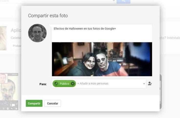 En vísperas de Halloween, Google+ ha incorporado a su editor de fotos la opción de aplicar terroríficos efectos a nuestras fotografías de forma sencilla.
