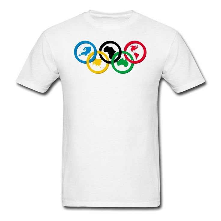 MOYI Men's World's Famous Olympic Games Rings Shirt White Xxxx-large. 100% Cotton. Simple And Easy, High Quality. Well Image And Exllent Printed Technology. A Series2016 RIo Olympic Games Logo Products. Great Shirt And High Print Quality.