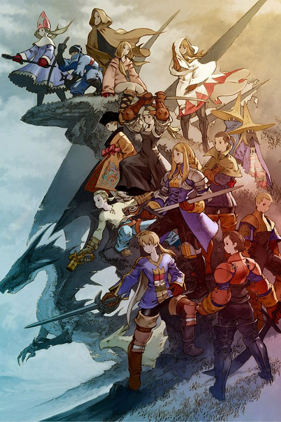 Final Fantasy Tactics 20 x 30 Video Game Poster by kitschaus
