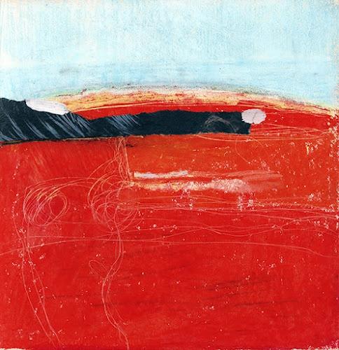 Landscape in red - Antonio Saura