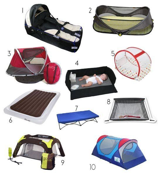 Hopefully you have some sort of vacation planned this summer and can take the kids to explore the world a bit. Getting infants and toddlers to sleep when you're away from home can be tricky business and you may need to bring a bed with you. Here are some portable beds and cribs that may come in handy for your upcoming trip.
