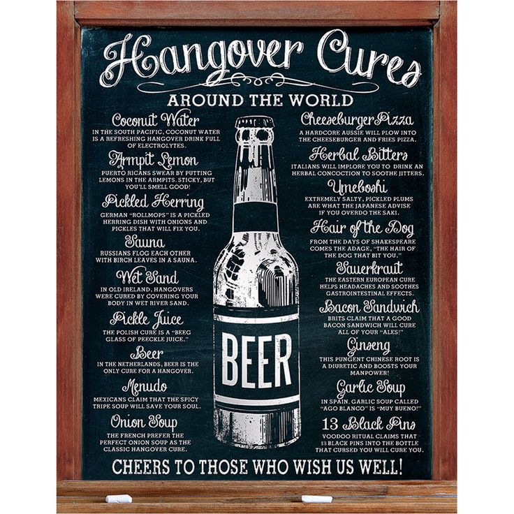 Beer Hangover Cures Around The World Metal Sign Around