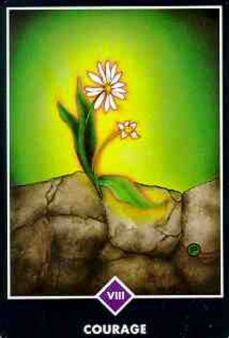 Courage. #osho #tarot #zen #strength