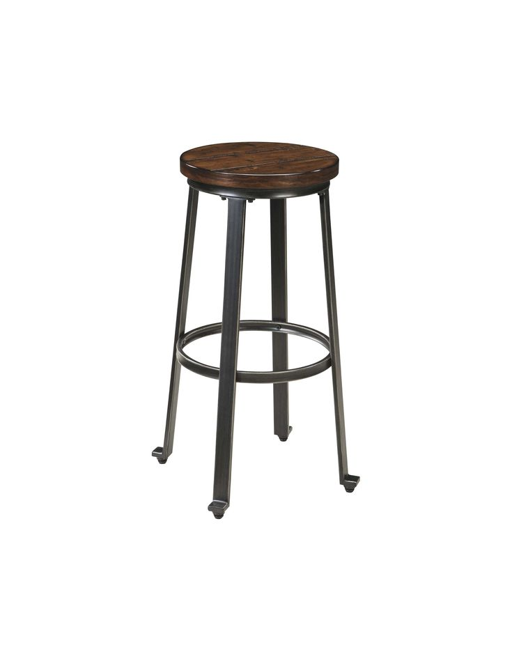 Lowest price on Signature Design by Ashley Challiman Rustic Brown Tall Stool - Set of 2 D307-130. Shop today!