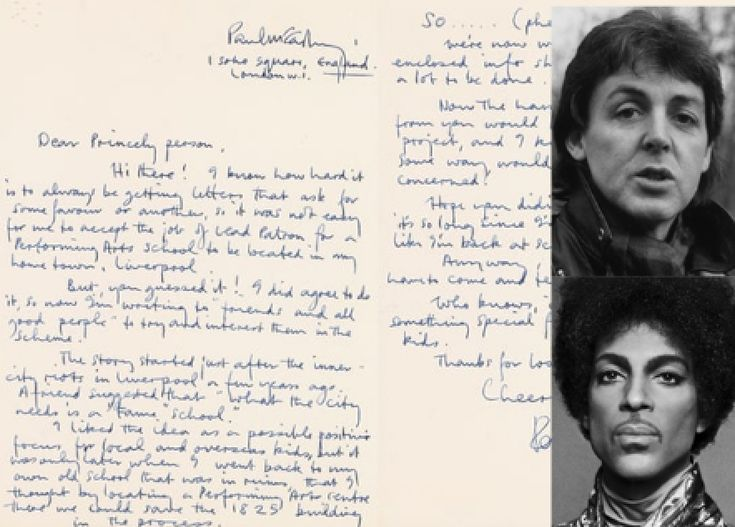 A Letter From Paul McCartney to Prince Sells For $19k
