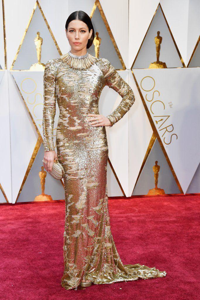 Oscars Red Carpet Dresses 2017   POPSUGAR Fashion Photo 10  Jessica Biel