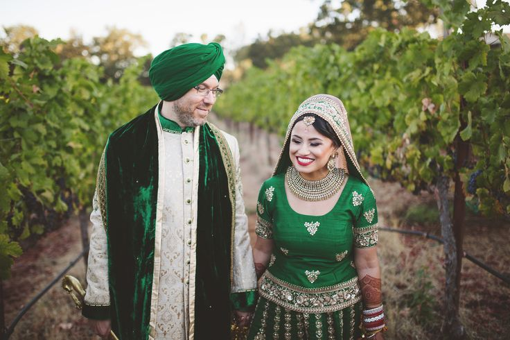 Just as the sun rose above the earth. Traditional Sikh Indian wedding video and photos.