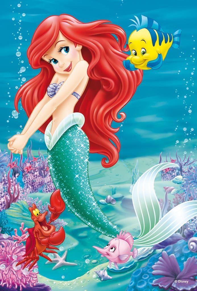 Ariel de A Pequena Sereia que mantém a cabeleira sedosa e com volume até debaixo…