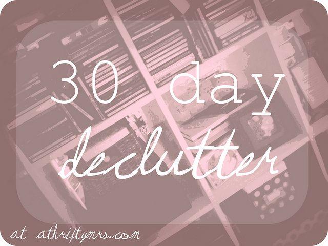 30 Day Declutter Challenge: Declutter Challenges, Organised Storage Declutter, Declutter Inpir